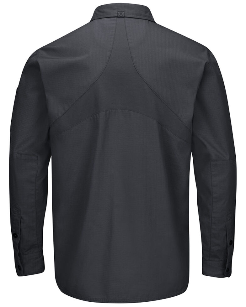 Red Kap Men's Charcoal Grey MIMIX™ Woven Long Sleeve Work Shirt , Charcoal Grey, hi-res