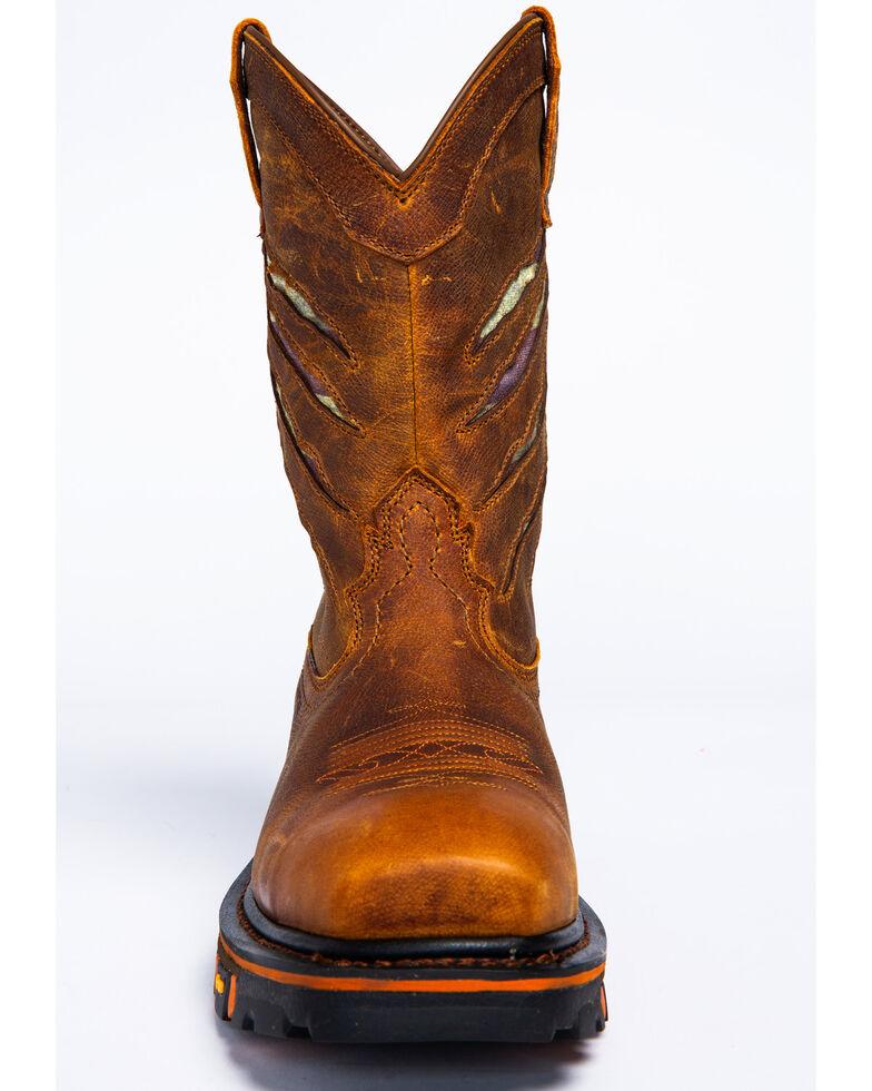 Cody James Men's Flag Western Work Boots - Composite Toe, Brown, hi-res