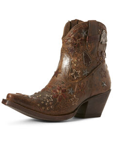 Ariat Women's Starla Woodsmoke Western Booties - Snip Toe, Brown, hi-res