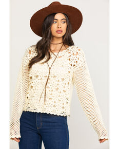 White Crow Women's Ivory Prado Sweater, Ivory, hi-res