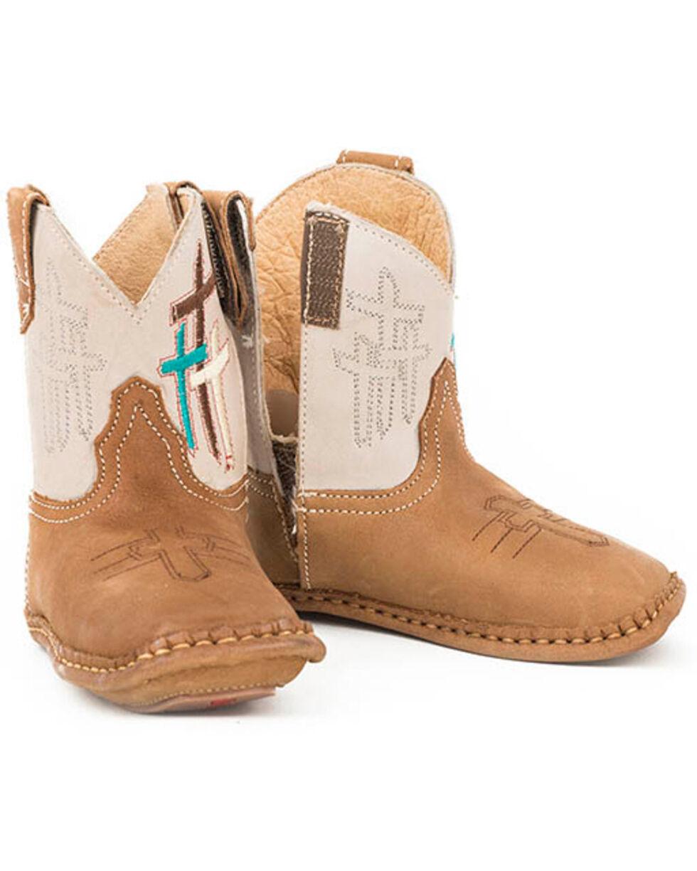 Roper Unisex Toddler Lil Cross Western Boots, Brown, hi-res