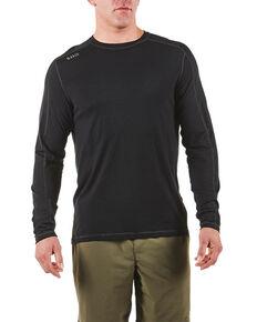 5.11 Tactical Men's Range Ready Merino Wool Long Sleeve Work T-Shirt , Black, hi-res