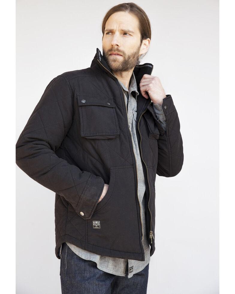 Kimes Ranch Men's Black Monitor Quilted Shirt Jacket, Black, hi-res
