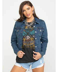 Levi's Women's Sweet Jane Original Trucker Denim Jacket, Indigo, hi-res