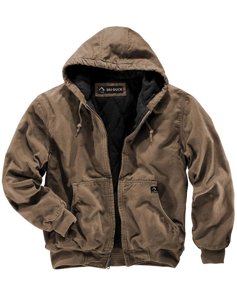 Dri Duck Men's Cheyenne Hooded Work Jacket - Tall Sizes (XLT - 2XLT), Khaki, hi-res
