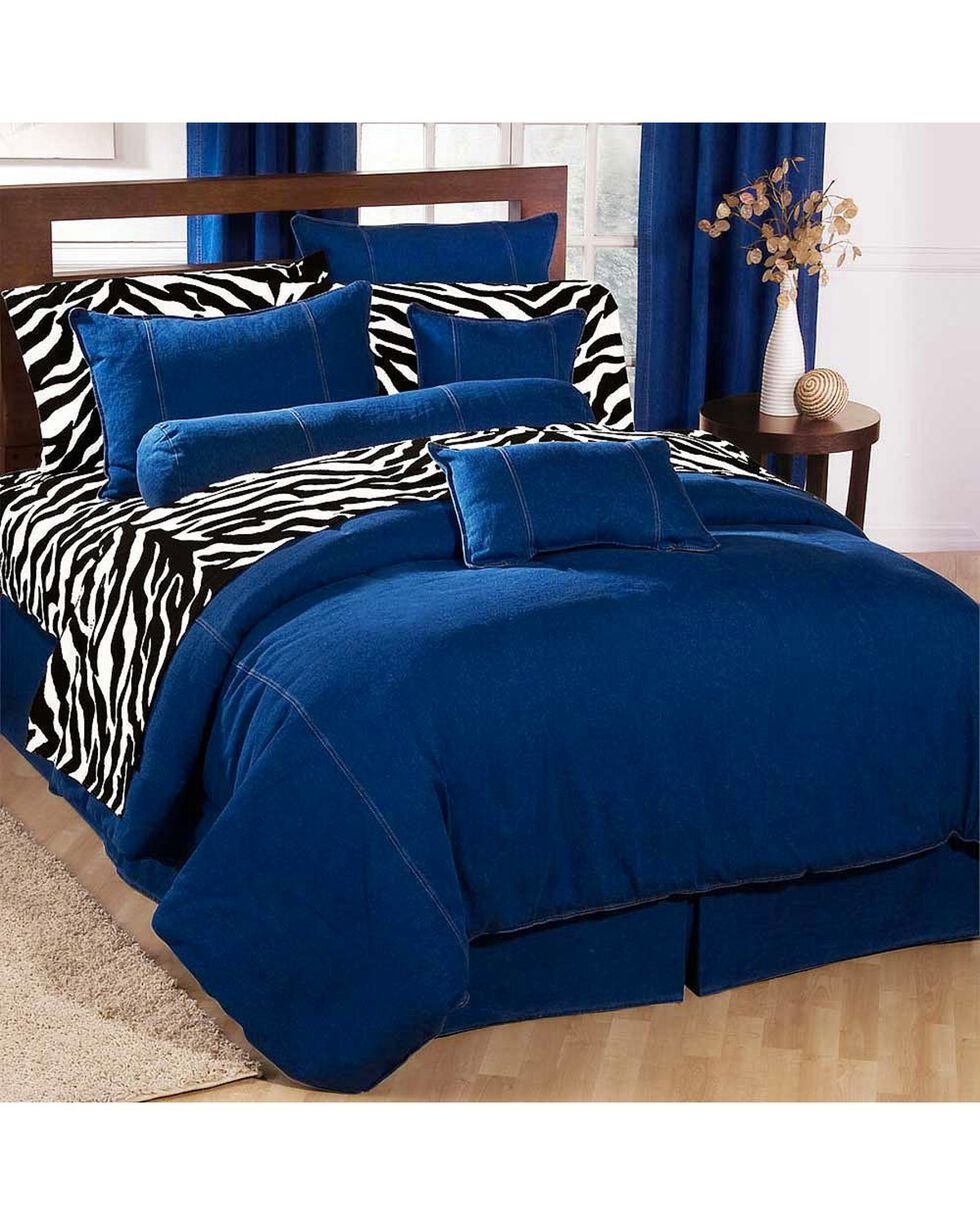 Karin Maki Denim California King Size Duvet Cover, Denim, hi-res