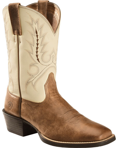 Ariat Men's Sport Outfitter Square Toe Western Boots, Brown, hi-res