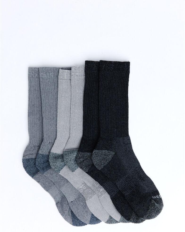 Merrell Men's Basic Socks - 3 Pack, Charcoal, hi-res