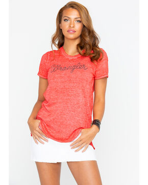 Wrangler Women's Red Rope Logo Fashion Tee , Red, hi-res