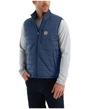 Carhartt Men's Gilliam Work Vest , Dark Blue, hi-res