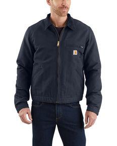 Carhartt Men's Duck Detroit Work Jacket - Big , Navy, hi-res