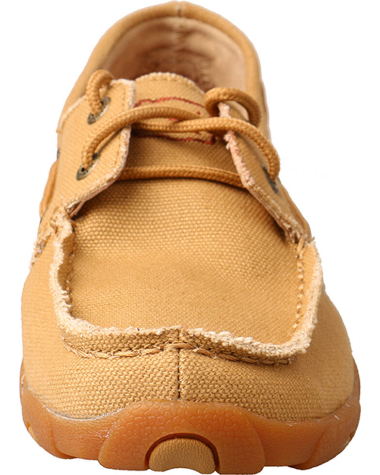 Twisted X Women's Canvas Driving Moccasins, , hi-res