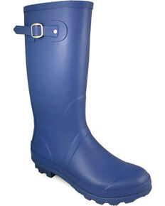 Smoky Mountain Women's Blue Rain Boots - Round Toe , Blue, hi-res