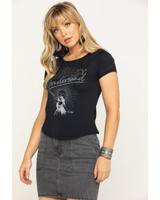 Shyanne Women's Black Whiskey Wonderland Graphic Tee , Black, hi-res
