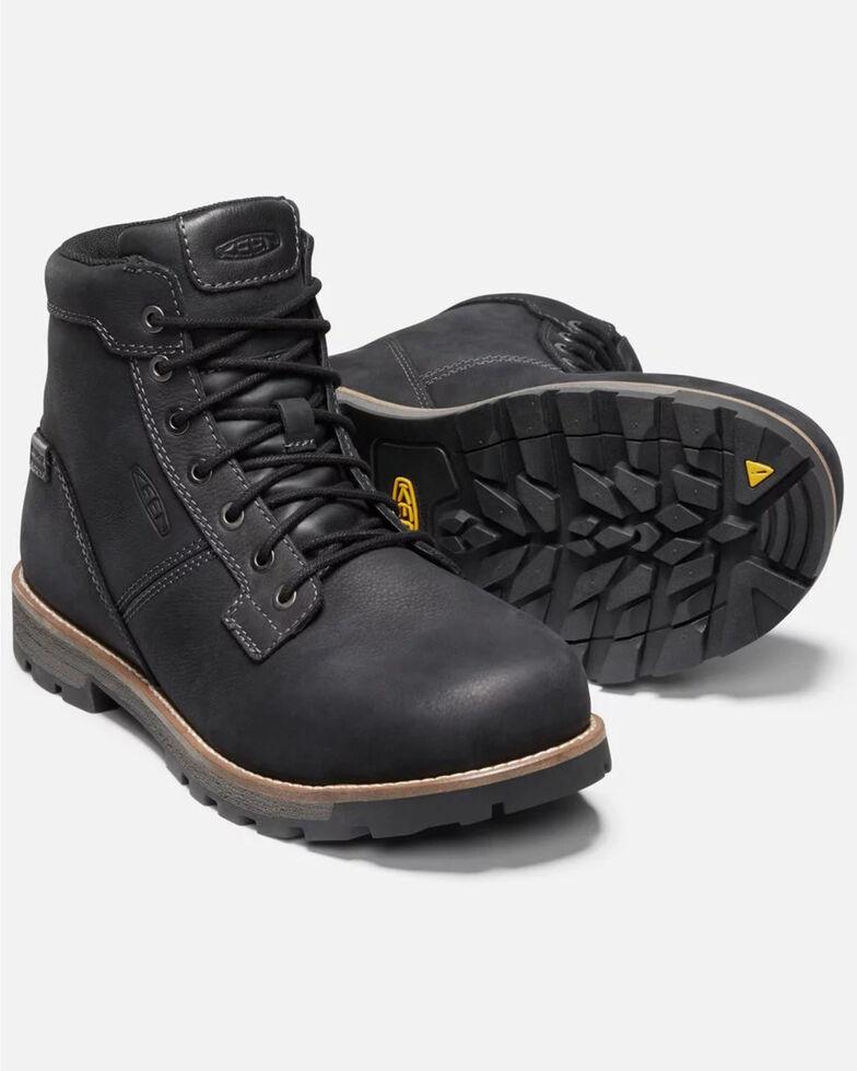 Keen Men's Seattle Waterproof Work Boots - Aluminum Toe, Black, hi-res