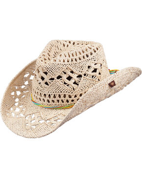 Peter Grimm Ariel Natural Straw Cowgirl Hat, Natural, hi-res