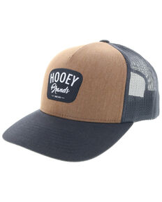 HOOey Men's Brown Hometown Cursive Logo Trucker Cap , Brown, hi-res