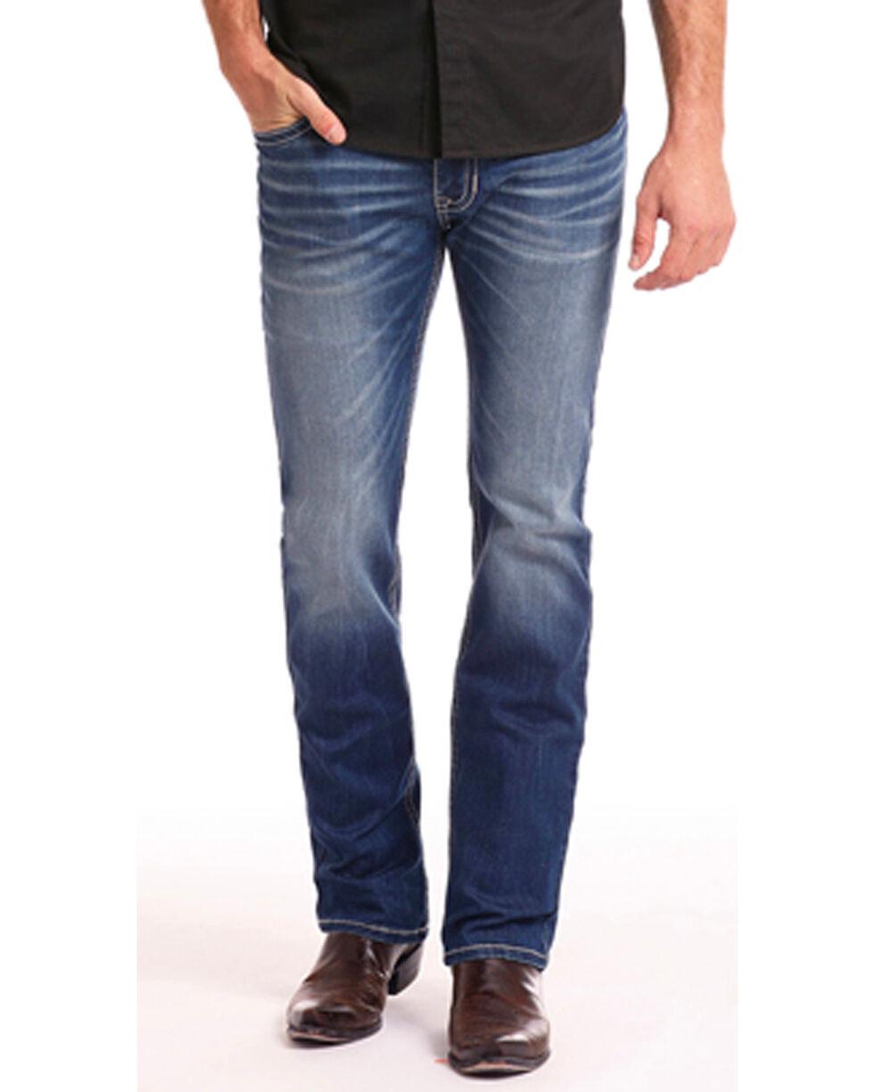 Rock & Roll Cowboy Men's Coolmax Revolver Jeans - Straight Leg, Indigo, hi-res