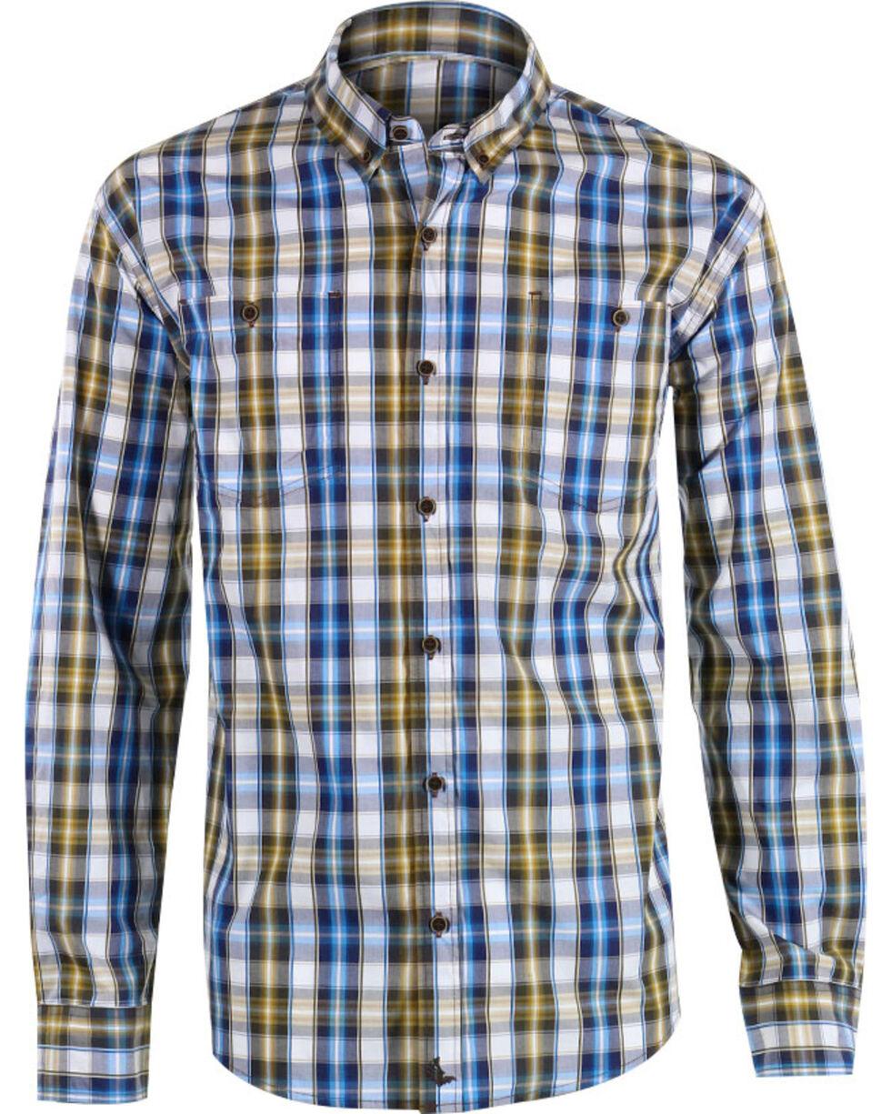 Cody James Men's Oak Tree Long Sleeve Western Shirt, Brown, hi-res