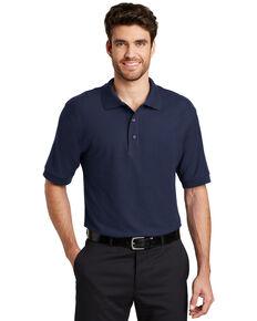 Port Authority Men's Navy Silk Touch Short Sleeve Polo Shirt, Navy, hi-res