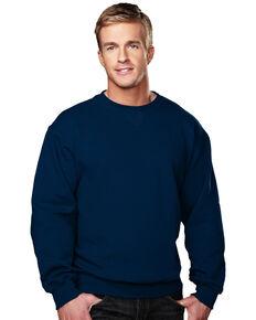Tri-Mountain Men's Aspect Navy Crewneck Sweatshirt, Navy, hi-res