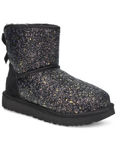 UGG Women's Mini Bow Cosmos Boots, Black, hi-res