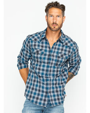 Cody James® Men's Range Boss Long Sleeve Shirt, Grey, hi-res