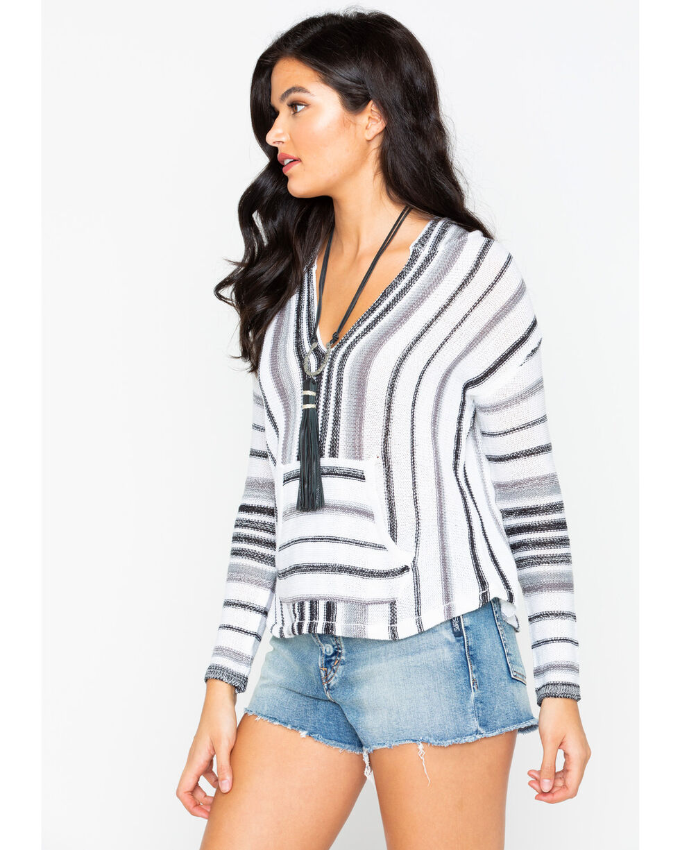 Rock & Roll Cowgirl Women's Knit Sweater, Grey, hi-res