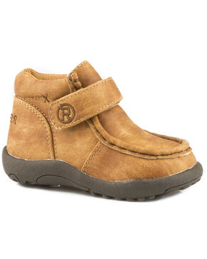 Roper Infant Boys' Moc Tan Faux Leather Cowbabies Chukkas - Moc Toe, Tan, hi-res