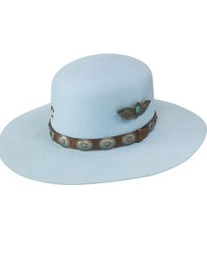 Charlie 1 Horse Women's Baby Blue Saguaro Western Wool Hat , Light Blue, hi-res