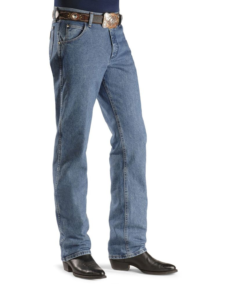 Wrangler Men's 47MWZ Premium Performance Cowboy Cut Regular Fit Prewashed Jeans, Stonewash, hi-res