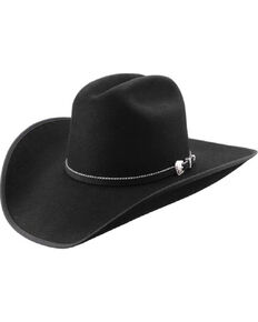Master Hatters Men's Premium Black Windmill 7X Wool Felt Cowboy Hat, Black, hi-res