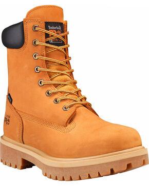 "Timberland Pro Men's 8"" Waterproof Insulated Work Boots, Tan, hi-res"