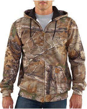Carhartt Realtree Xtra® Camo Midweight Zip-Front Hoodie, Camouflage, hi-res