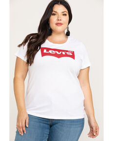 Levi's Women's White Perfect Tee - Plus , White, hi-res