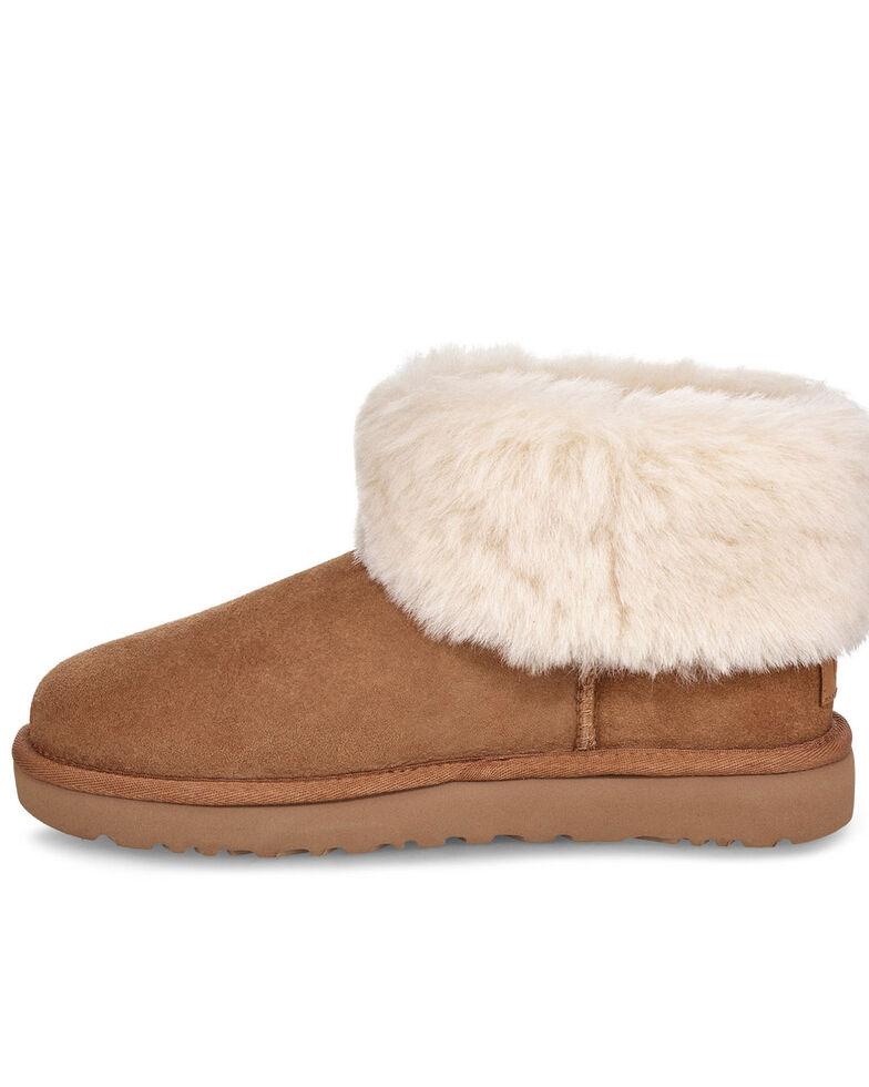 UGG Women's Classic Mini Fluff Boots, Chestnut, hi-res