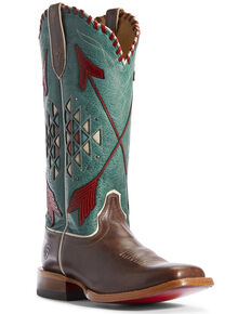 Ariat Women's Arroyo Rustic Western Boots - Wide Square Toe, Brown, hi-res
