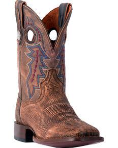 Dan Post Men's Badlands Cowboy Boots - Square Toe, Tan, hi-res