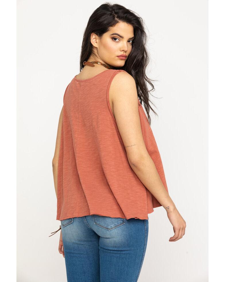 Shyanne Women's Solid Lace Tank Top, Mauve, hi-res