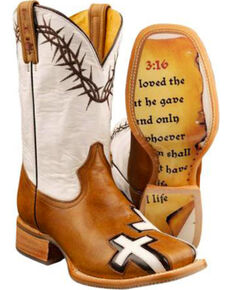 Tin Haul Men's Between Two Thieves Western Boots, Brown, hi-res