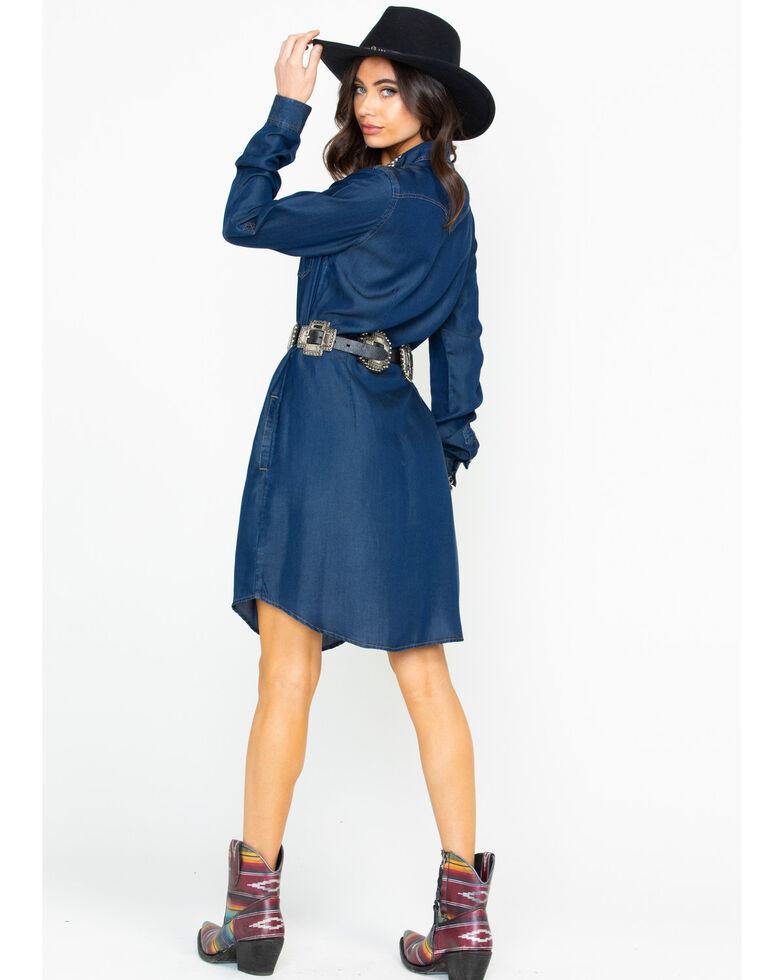 Rough Stock by Panhandle Denim Tecil Snap Front Dress , Dark Blue, hi-res