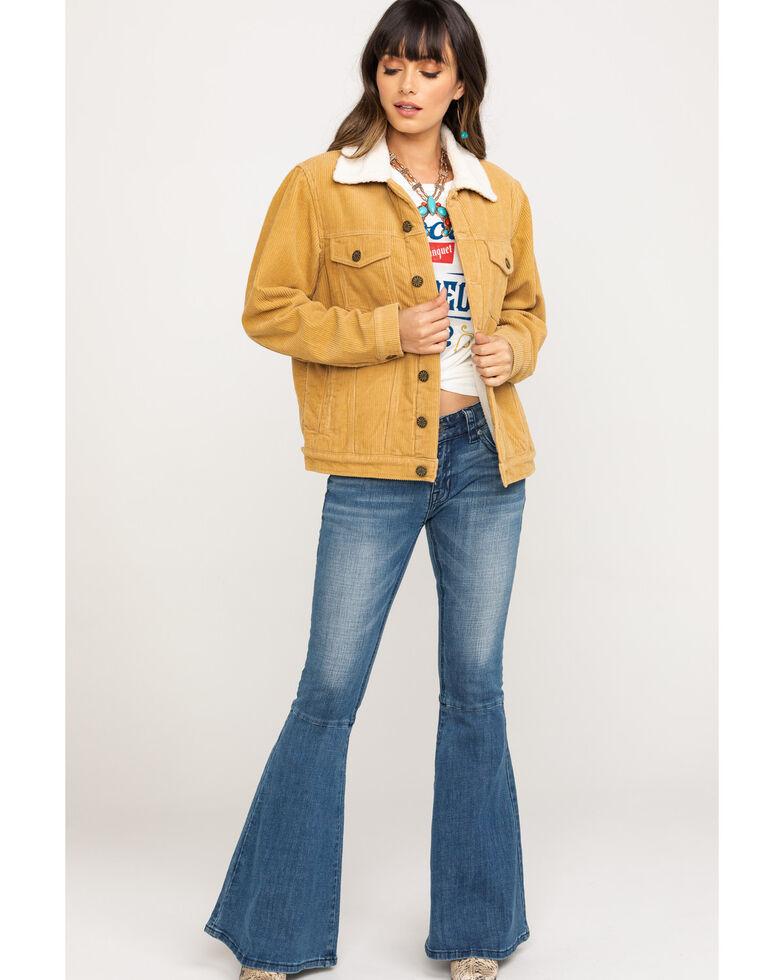 Show Me Your Mumu Women's Mustard Dijon Durado Corduroy Jacket, Yellow, hi-res
