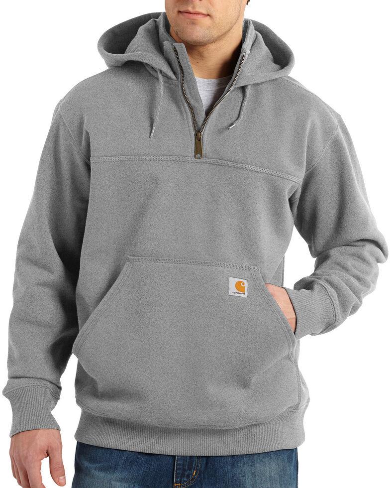 Carhartt Rain Defender Paxton Hooded Zip Mock Sweatshirt - Big & Tall, Hthr Grey, hi-res