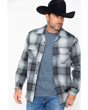 Pendleton Men's Original Board Shirt, Grey, hi-res