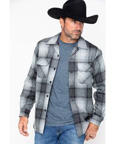 Pendleton Men's Original Board Flannel Shirt Jacket, Grey, hi-res