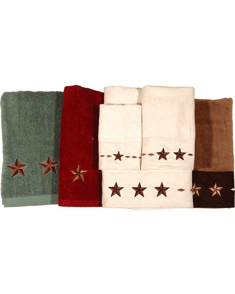 HiEnd Accents Three-Piece Embroidered Star Bath Towel Set - Cream, Natural, hi-res