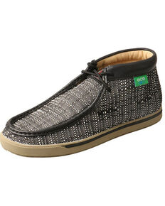 Twisted X Women's ECO TWX Printed Driving Moccasin Shoes - Moc Toe, Black, hi-res