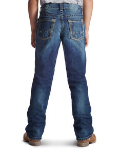Ariat Boy's B5 Boundary Straight Leg Jeans, Med Blue, hi-res
