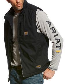 Ariat Men's Black Rebar DuraCanvas Vest, Black, hi-res