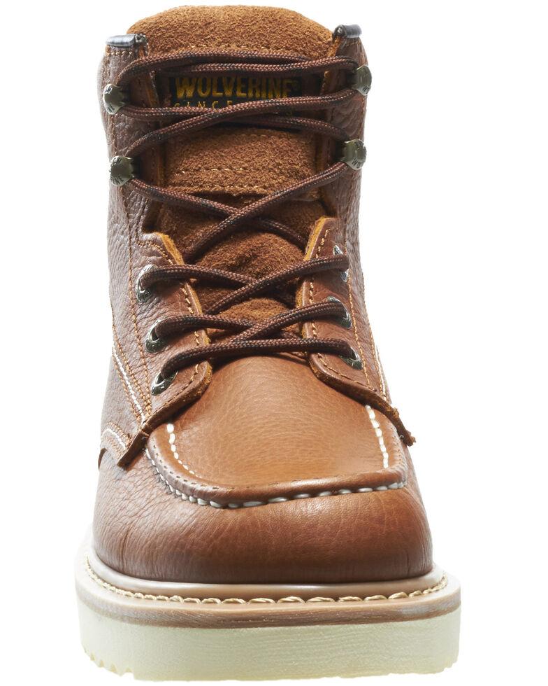 Wolverine Men's Moc Toe Work Boots, Brown, hi-res